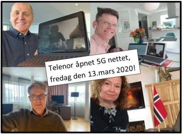 Telenor åpnet sitt 5G nett