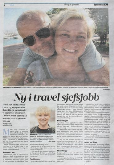 Mette Vikan Andersen i Tønsbergs Blad