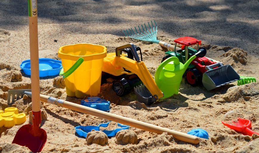 Sandkasse barn p